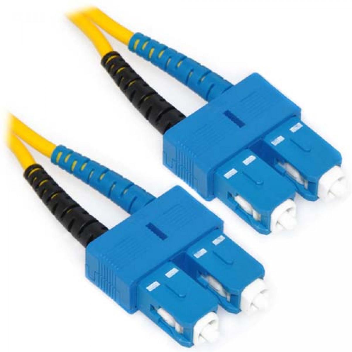 60m Sc Sc Duplex 9 125 Single Mode Fiber Patch Cable Yellow