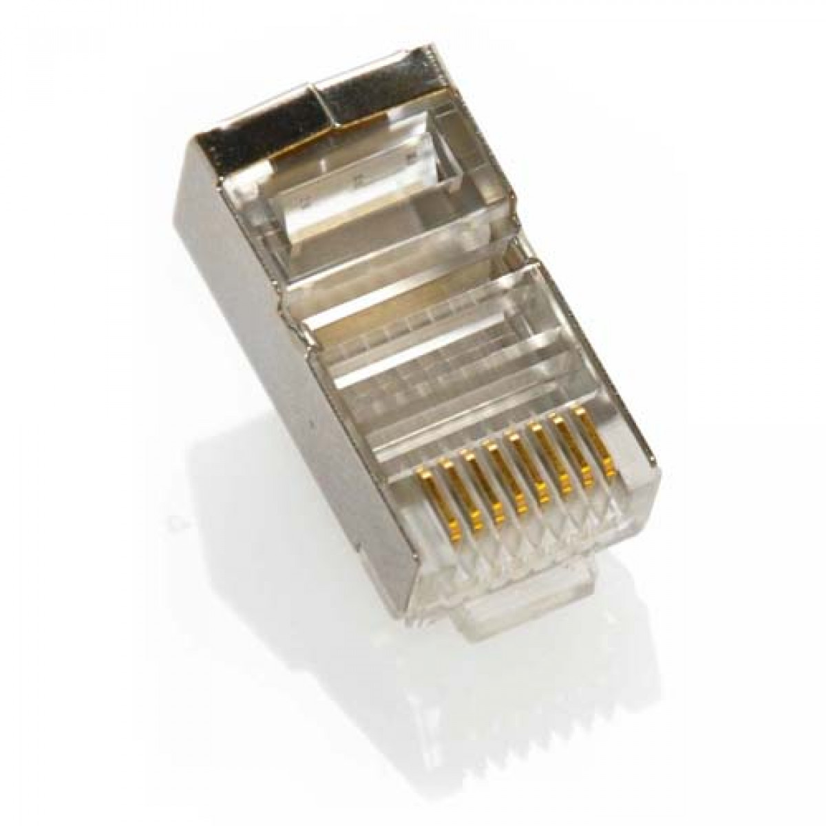 Cat6 Shielded 8p8c Crimp Connectors For Stranded Wire