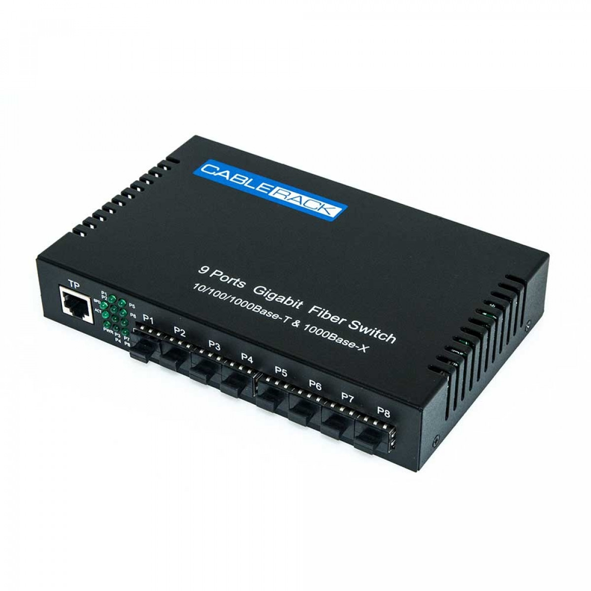 Cablerack 8 Port Sfp Optical Switch With One 1000m Utp