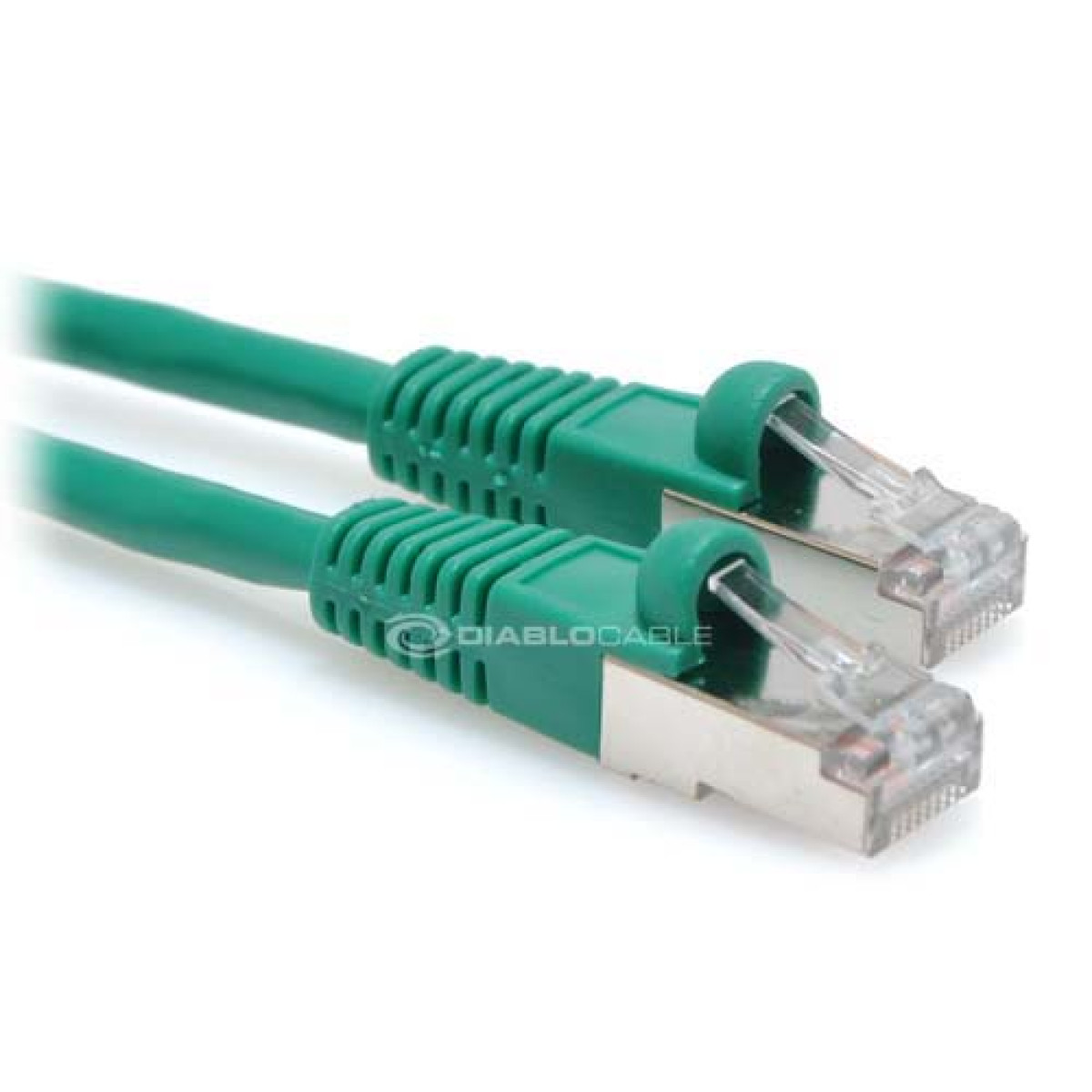 6ft Cat6 550MHz Bare Copper STP Shielded Ethernet Network Cable - Green