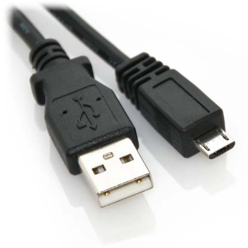 6ft USB 2.0 A Male to Micro B Male High Speed Cable Black