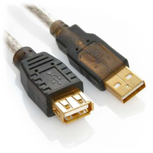 16ft USB 2.0 A Male to A Female High Speed Active Extension Cable