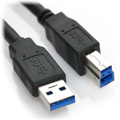 3ft USB 3.0 A Male to B Male Super Speed Cable Black