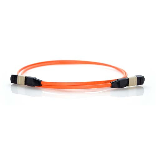 15m MTP 50/125 Plenum Rated Multimode 12 Strand Fiber Patch Cable - Orange