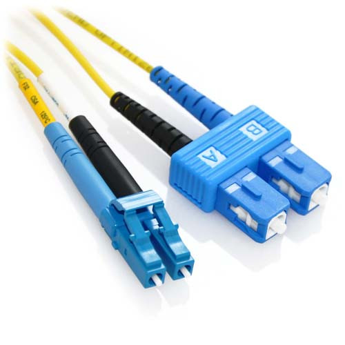 7m LC/SC Duplex 9/125 Singlemode Bend Insensitive Fiber Patch Cable - Yellow