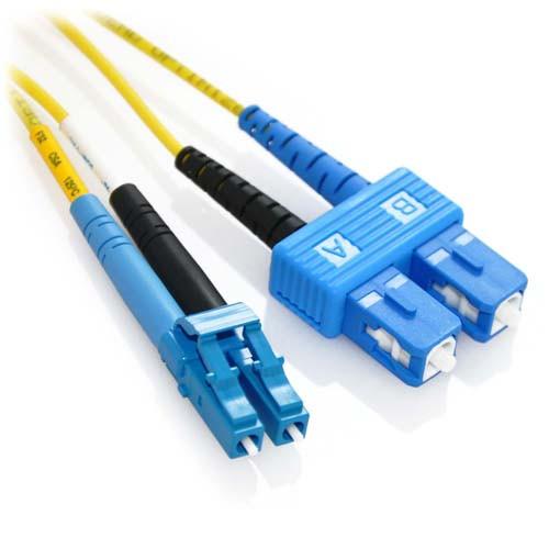 12m APC/SC to UPC/LC Duplex 9/125 Singlemode Bend Insensitive Fiber Patch Cable - Yellow