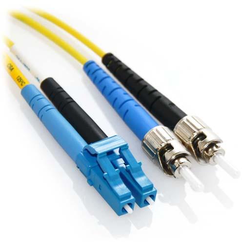2m LC/ST Duplex 9/125 Singlemode Bend Insensitive Fiber Patch Cable - Yellow