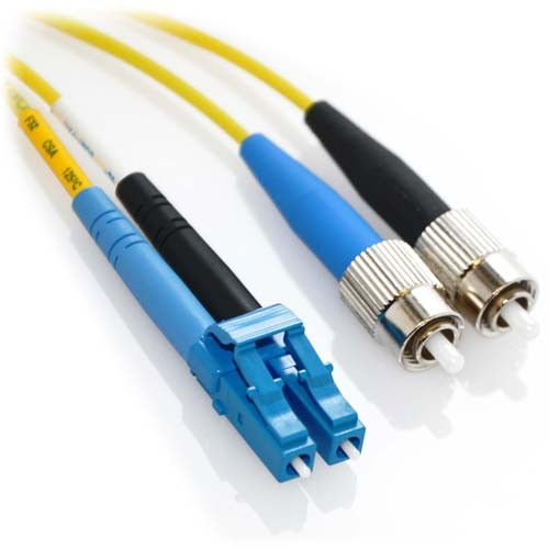15m LC/FC Duplex 9/125 Singlemode Bend Insensitive Fiber Patch Cable - Yellow