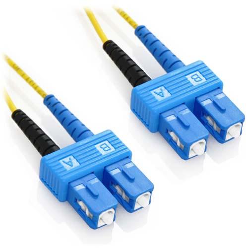 60m SC/SC Duplex 9/125 Singlemode Bend Insensitive Fiber Patch Cable - Yellow