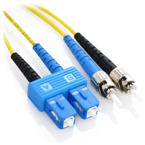 15m SC/ST Duplex 9/125 Singlemode Bend Insensitive Fiber Patch Cable - Yellow