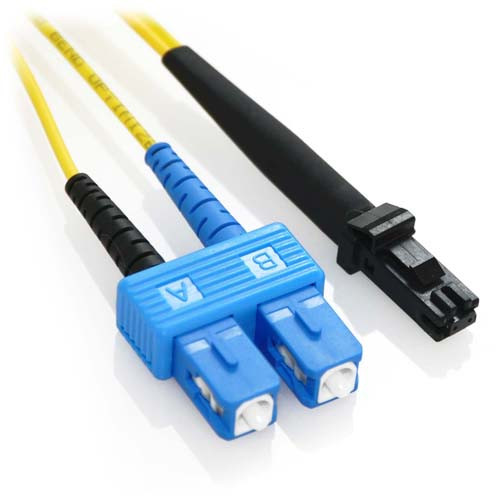 2m SC/MTRJ Duplex 9/125 Singlemode Bend Insensitive Fiber Patch Cable - Yellow