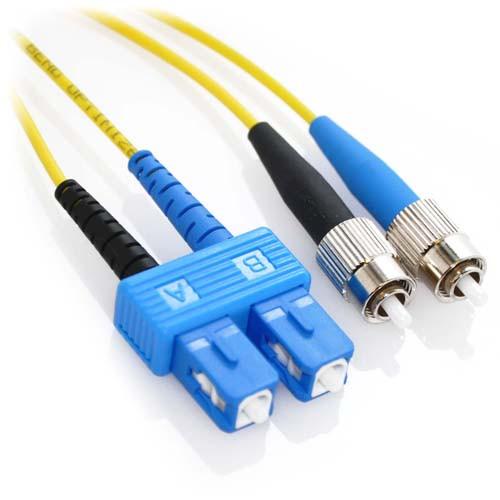 5m SC/FC Duplex 9/125 Singlemode Bend Insensitive Fiber Patch Cable - Yellow