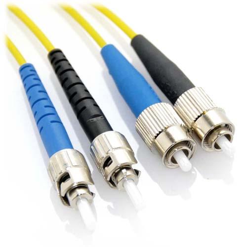 2m ST/FC Duplex 9/125 Singlemode Bend Insensitive Fiber Patch Cable - Yellow