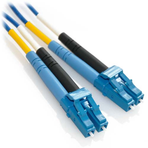 15m LC/LC Duplex 9/125 Singlemode Plenum Fiber Patch Cable - Blue