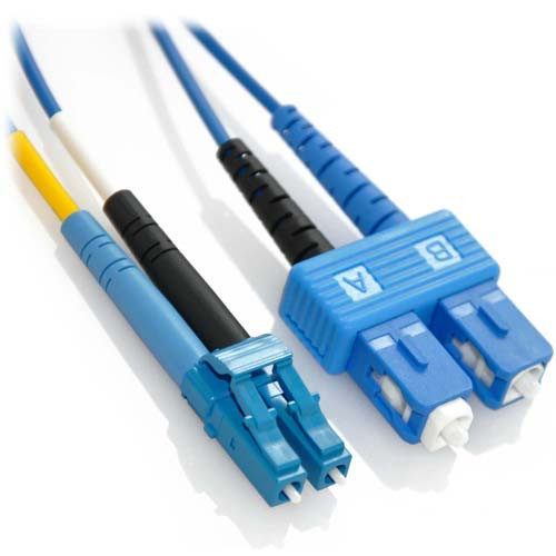 3m LC/SC Duplex 9/125 Singlemode Bend Insensitive Fiber Patch Cable - Blue