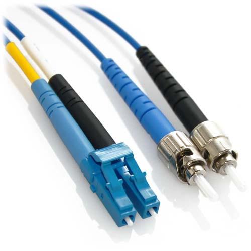 30m LC/ST Duplex 9/125 Singlemode Bend Insensitive Fiber Patch Cable - Blue