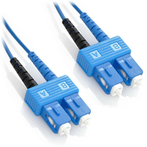 12m SC/SC Duplex 9/125 Singlemode Bend Insensitive Fiber Patch Cable - Blue