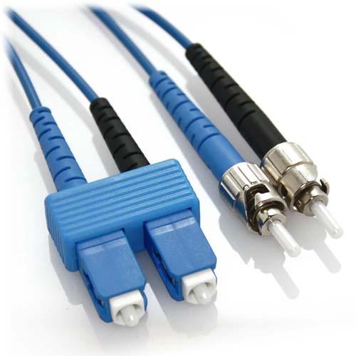 1m SC/ST Duplex 9/125 Singlemode Fiber Patch Cable - Blue