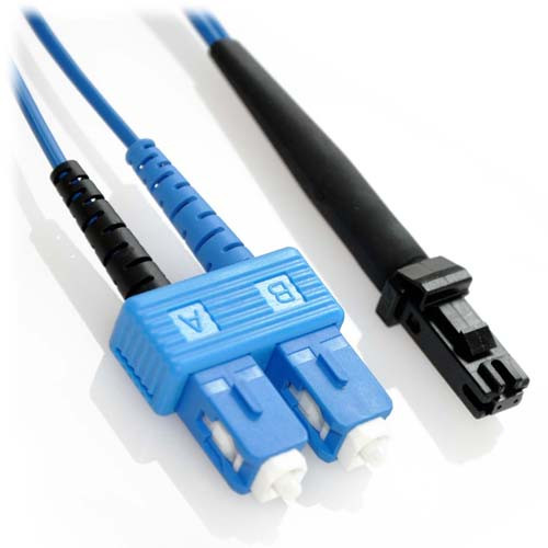 12m SC/MTRJ Duplex 9/125 Singlemode Bend Insensitive Fiber Patch Cable - Blue