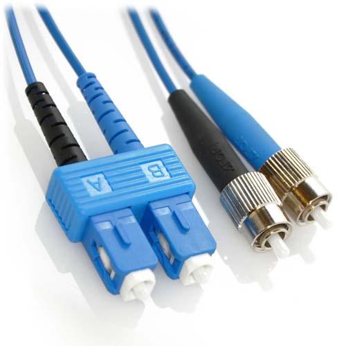 5m SC/FC Duplex 9/125 Singlemode Bend Insensitive Fiber Patch Cable - Blue