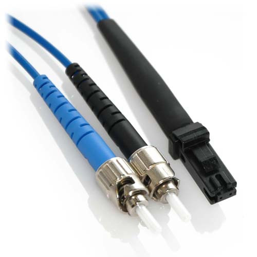 5m ST/MTRJ Duplex 9/125 Singlemode Bend Insensitive Fiber Patch Cable - Blue