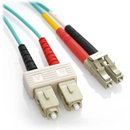 25m LC/SC 10Gb Duplex 50/125 Multimode Bend Insensitive Fiber Patch Cable Aqua