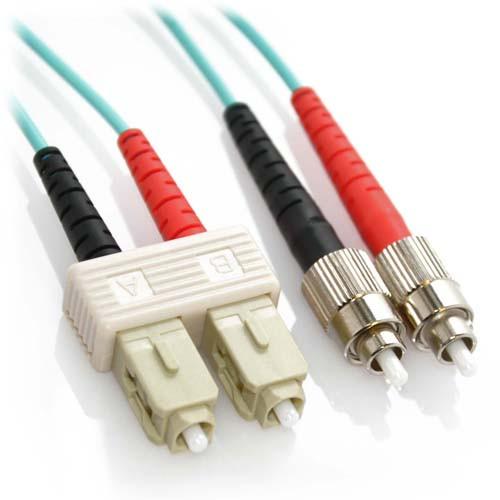 12m SC/FC 10Gb Duplex 50/125 Multimode Bend Insensitive Fiber Patch Cable Aqua