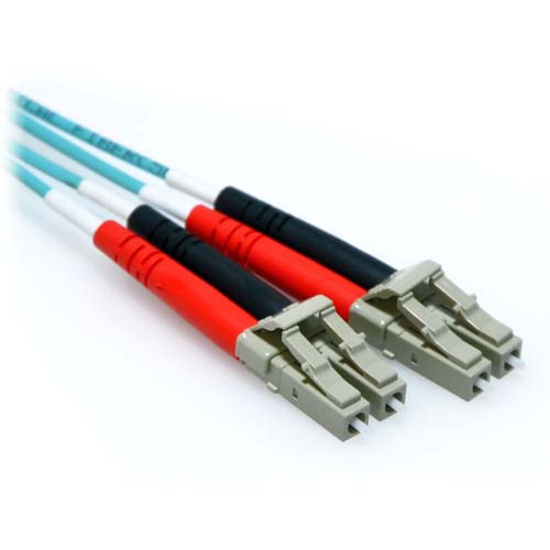 60m LC/LC 10Gb Duplex 50/125 Multimode Bend Insensitive Fiber Patch Cable Aqua