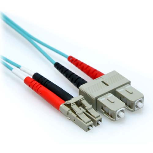 80m LC/SC 10GB Duplex 50/125 Multimode OM3 Fiber Patch Cable Aqua