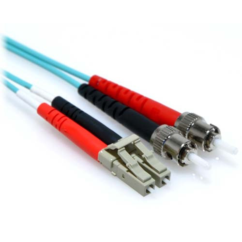 10m 10 Gb LC/ST Duplex 50/125 Multimode Fiber Patch Cable Aqua