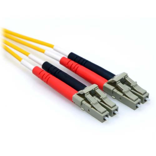 18m LC/LC Plenum 10GB Duplex 50/125 Multimode OM3 Fiber Patch Cable Yellow