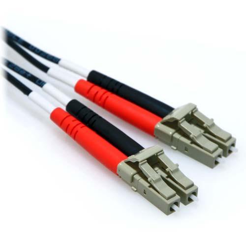 25m LC/LC Plenum Duplex 9/125 Single Mode Fiber Patch Cable Black