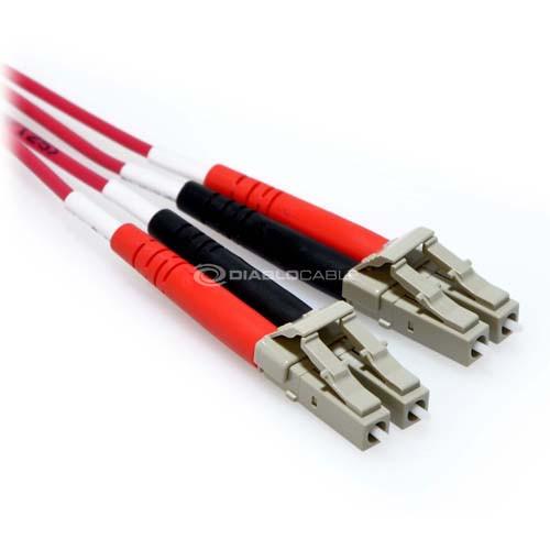 5m LC/LC Plenum 10GB Duplex 50/125 Multimode OM3 Fiber Patch Cable Red