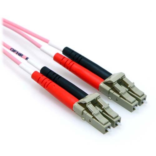 7m LC/LC 10GB Duplex 50/125 Multimode OM3 Fiber Patch Cable Pink