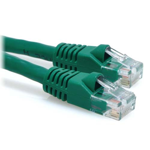 20ft Cat6a 500MHz 24AWG Bare Copper UTP Ethernet Network Cable - Green