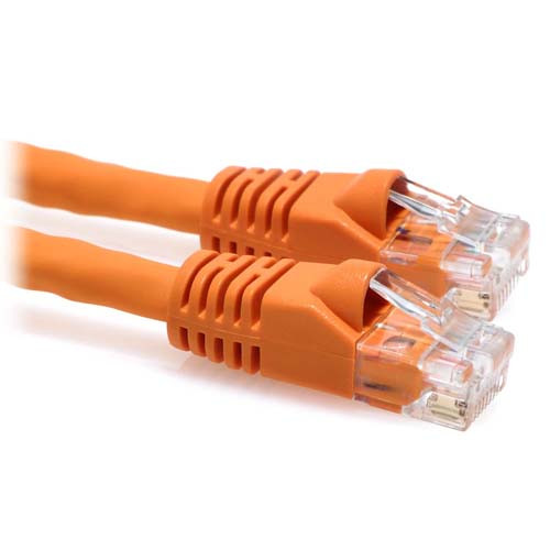 35ft CAT6A 10-Gigabit Snagless Patch Cable - Orange