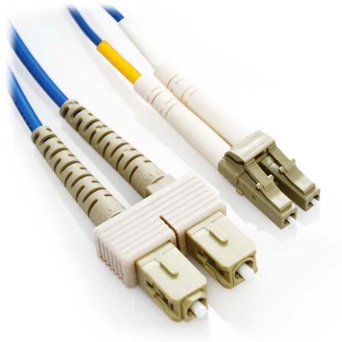10m LC/SC Duplex 50/125 Multimode Fiber Patch Cable - Blue
