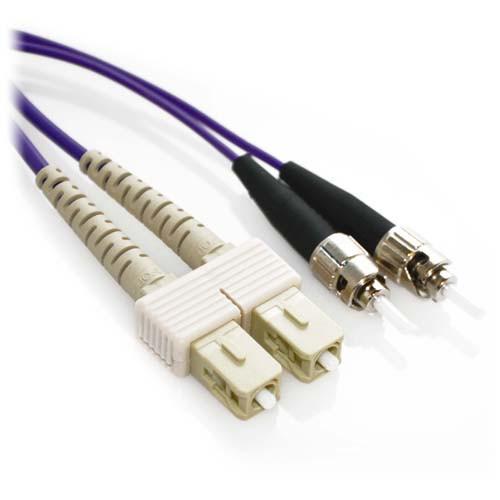 1m SC/ST Duplex 50/125 Multimode Fiber Patch Cable - Purple