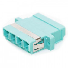 LC/LC Female to Female Multimode Quad Fiber Coupler Aqua