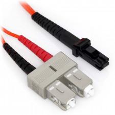 1m MTRJ/SC Duplex 62.5/125 Multimode Fiber Patch Cable with Alignment Pins
