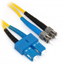 15m SC/ST Duplex 9/125 Single Mode Fiber Patch Cable
