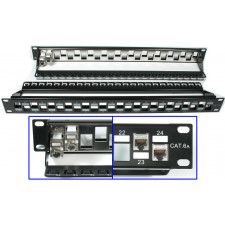24 Port CAT6A Shielded Unloaded Patch Panel