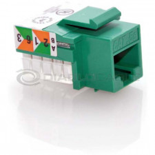 Green CAT6 Inline Coupler with Keystone Latch