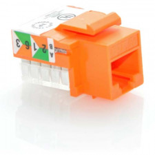 CAT5E RJ45 UTP Keystone Jack 110 Style Orange