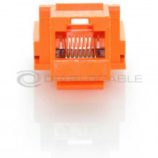 Orange CAT6 Inline Coupler with Keystone Latch