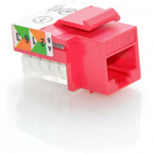 CAT5E RJ45 UTP Keystone Jack 110 Style Red