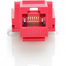 Red CAT6 Inline Coupler with Keystone Latch