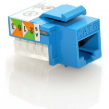Cat6A Modular Keystone Jack, Blue