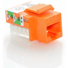 CAT6 RJ45 UTP Keystone Jack 110 Style Orange