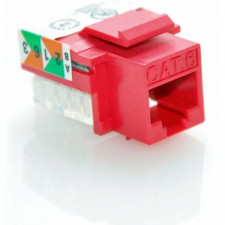 CAT6 RJ45 UTP Keystone Jack 110 Style Red